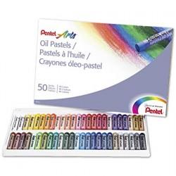 Pastelli a olio Pentel 50 colori