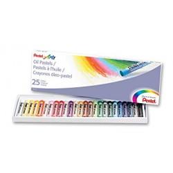Pastelli a olio Pentel 25 colori