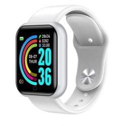 Smartwatch quadrante quadrato bianco