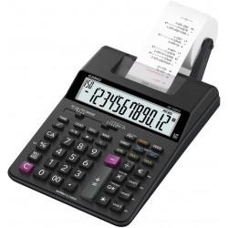Casio HR-150RCE - Calcolatrice per la stampa Display, LCD a 12 cifre, Nero con adattatore integrato