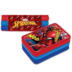 Astuccio Premium Spiderman Scuola 3 Cerniere
