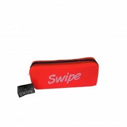 Astuccio Bustina Silicone 1 Zip Swipe Arancione Fluo