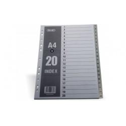 DIVISORI 20 TASTI NUMERI 1-20 IN PP